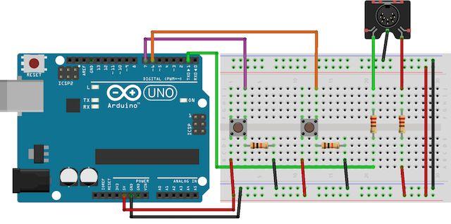 Arduino-Midi-Controller-Circuito
