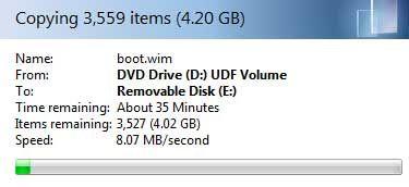 ventanas de disco de instalación USB 7