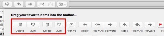 Mac Mail - Iconos emparejados