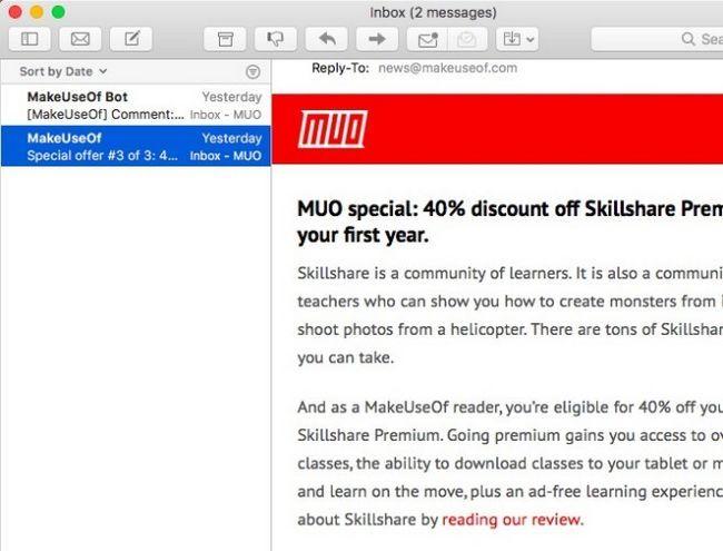 Mac Mail - New Look