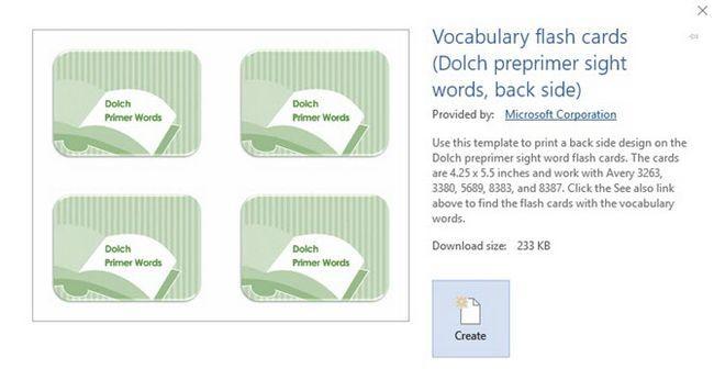 Vocabulario Tarjetas de índice