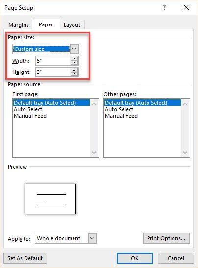 Microsoft Word - tamaño del conjunto Tarjeta de índice