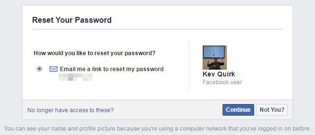 facebook restablecimiento de contraseña