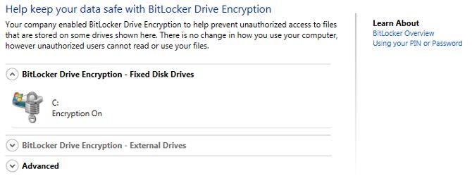 encriptación BitLocker