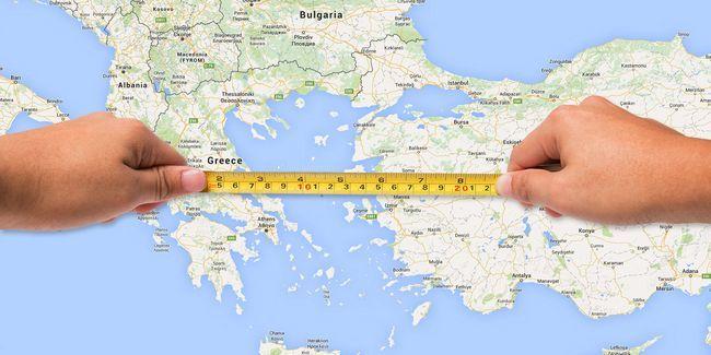 Cómo medir el área y la distancia en los mapas de google y la tierra