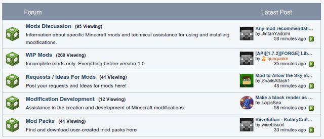 Minecraft-mods-Minecraft-foro