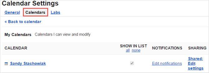 ajustes por defecto de Google Calendar otros calendarios