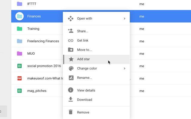 google-drive-complemento estrella