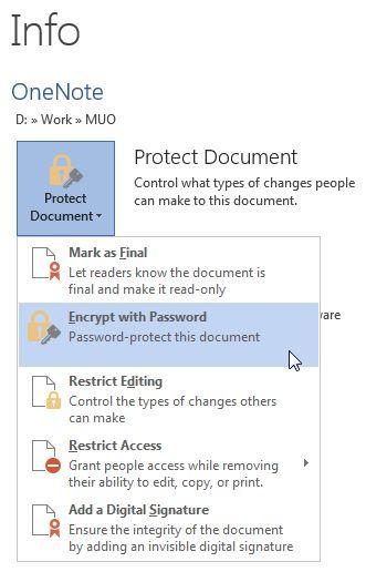El cifrado de archivos de Word 2013