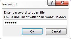 Palabra 2013 Introduzca la contraseña del archivo