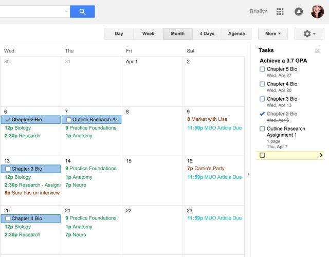 CalendarTasks