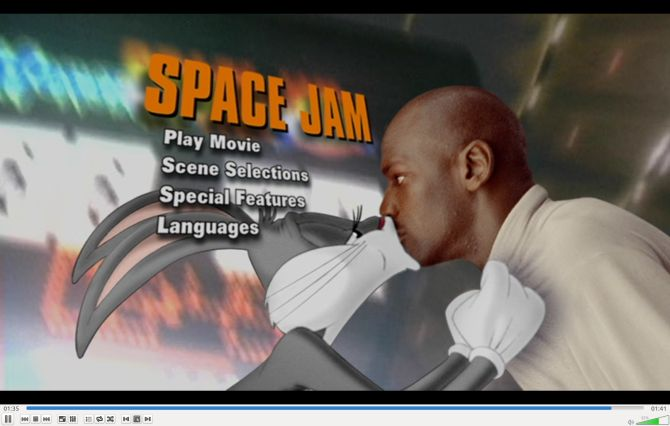 Space Jam DVD VLC