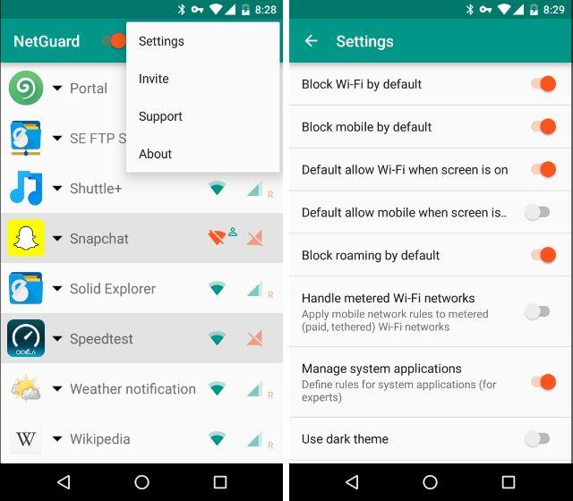 AndroidBlockAppsInternet-Configuración