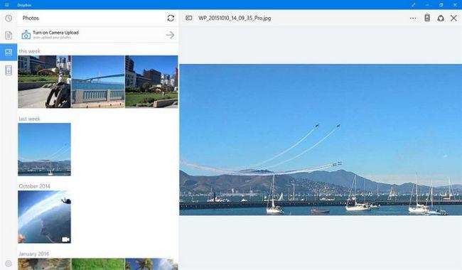 Windows 10 Aplicación Dropbox
