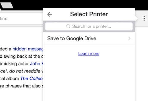 impresión de cromo iOS a PDF