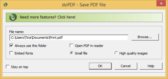 impresora doPDF