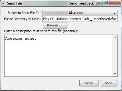 FilePhile envío de un archivo