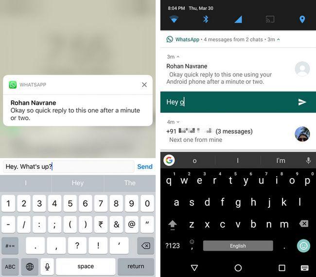 ios notificaciones respuesta rápida android