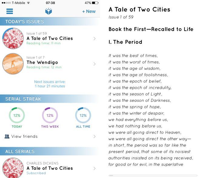 Lector de serie Serial aplicación de lectura