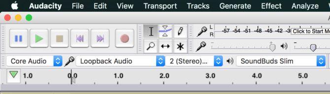 mac grabación audacia de bucle invertido