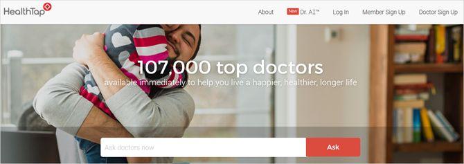 HealthTap web principal