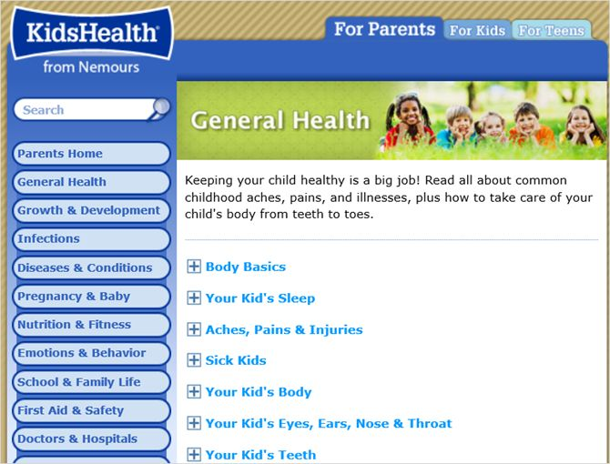 web general kidshealth