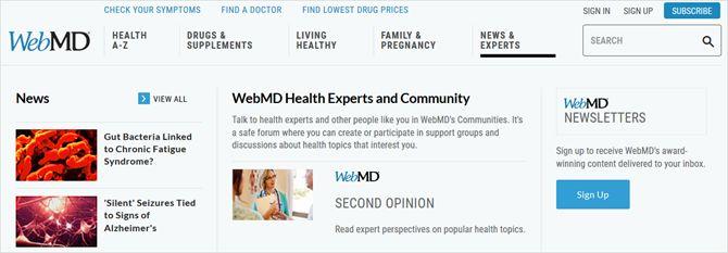 Los expertos en salud WebMD