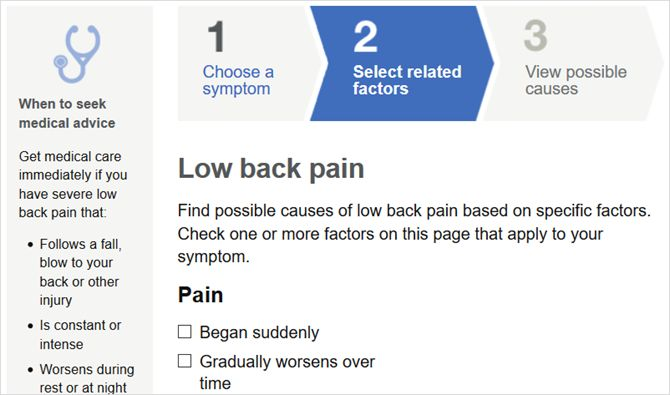 Mayo síntomas clínicos Web