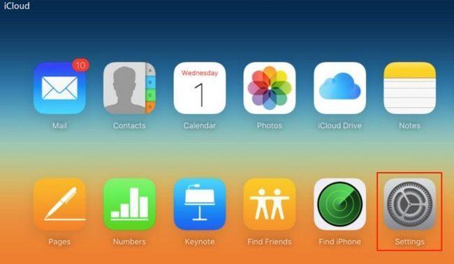 configuración del sitio web de iCloud