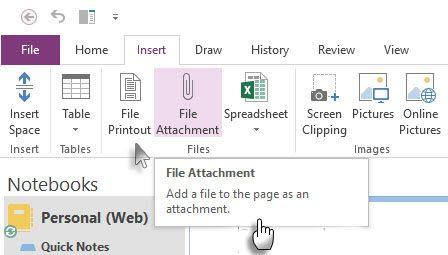 Insertar archivo adjunto o una copia impresa del archivo