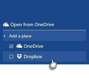Guardar archivos de Office 2016 a Dropbox