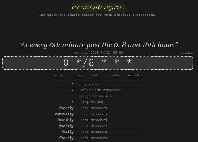 linux-cron-crontab-guru
