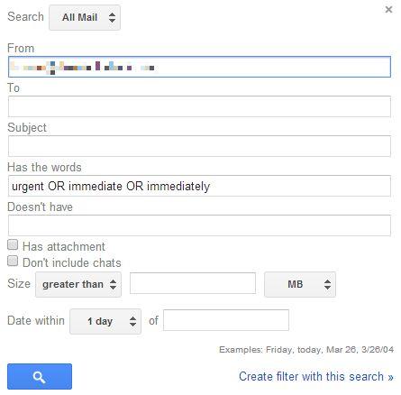 Configurar Gmail Filtrar