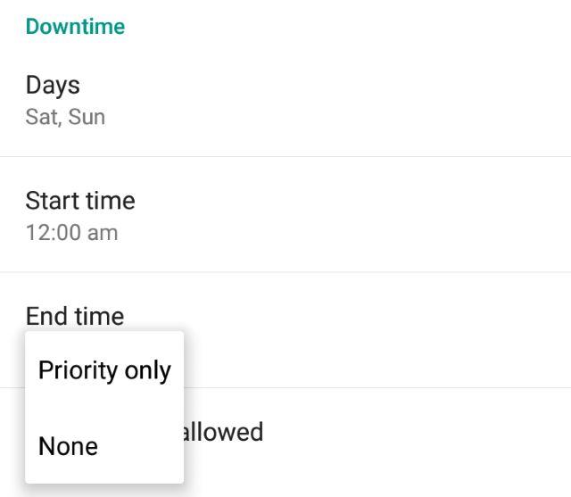 El tiempo de inactividad en modo de prioridad