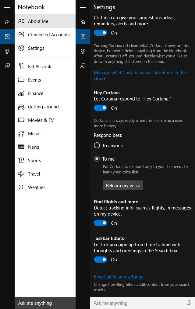 Muo-settings-windows-Windows 10-Cortana a la instalación