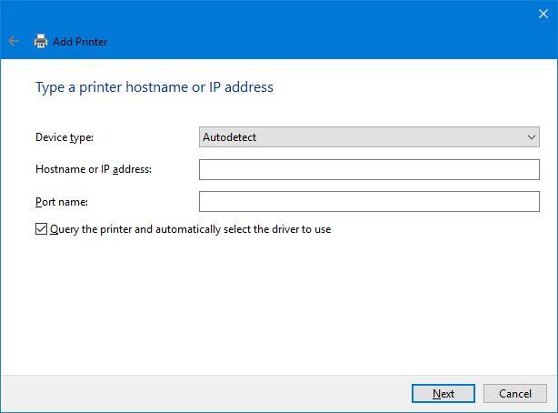 dirección IP de la impresora