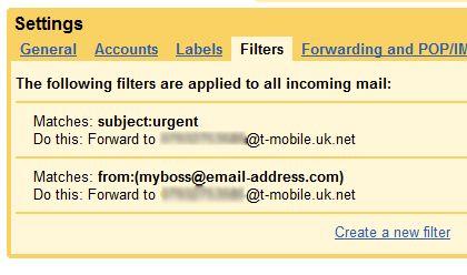 Configuración de la alerta SMS Gmail