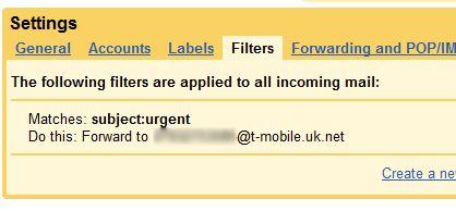 Gmail notificación por SMS