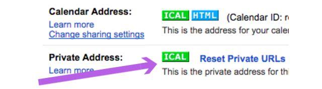 Compartir Calendario iCal
