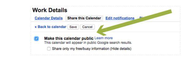 Hacer público el Calendario de Google