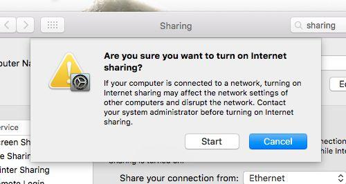mac-ethernet de intercambio de alerta