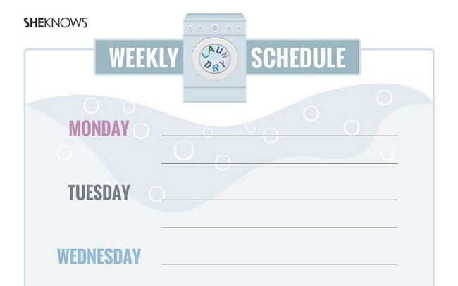 Organización de la casa Calendario para imprimir simple