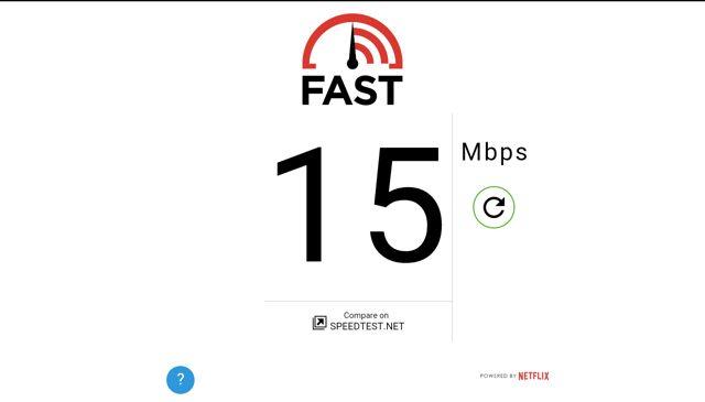Netflix molestias-rápida velocidad de la prueba