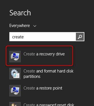 recuperación de windows