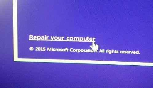 Windows 10 Reparar el equipo