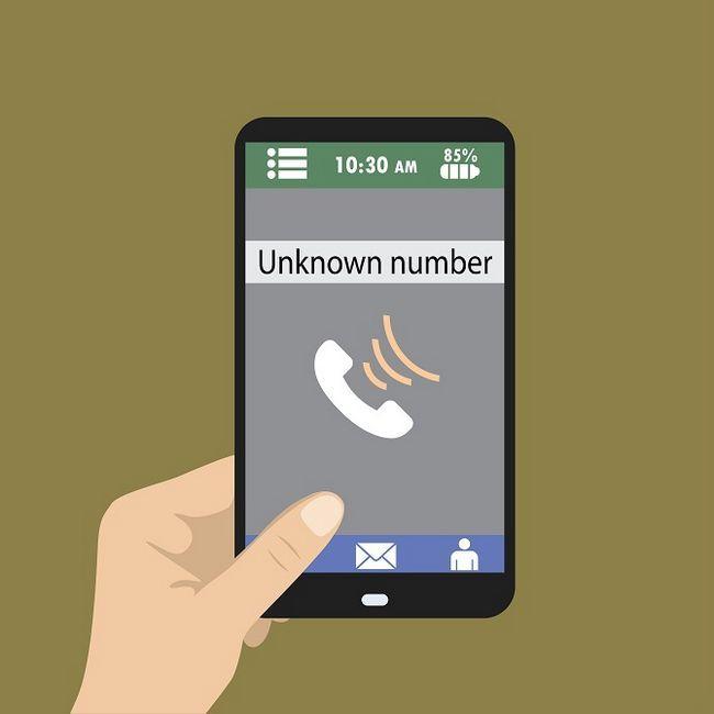 Número de teléfono desconocido de llamadas entrantes