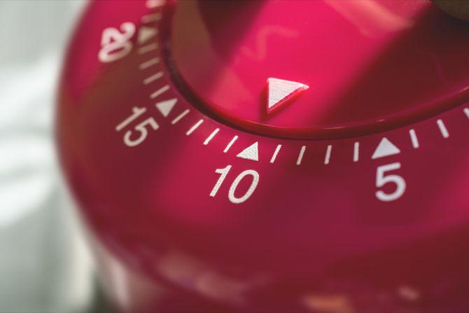 Diez minutos temporizador de cocina