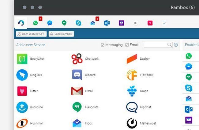 Captura de pantalla Rambox