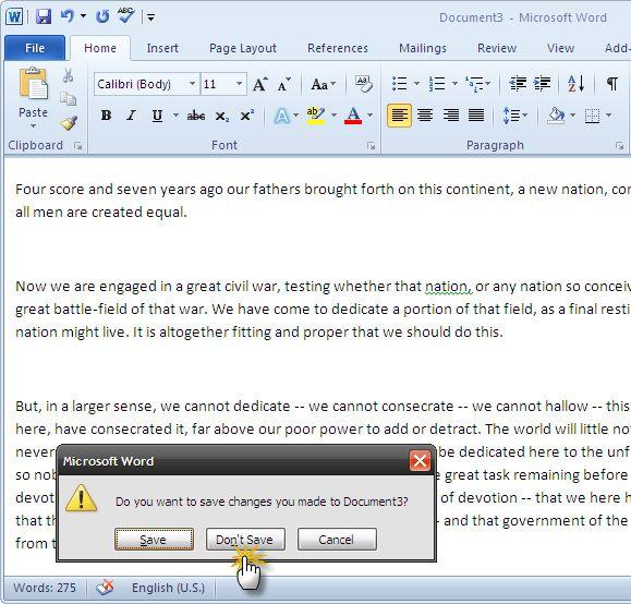 recuperar documento de Word