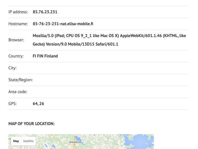 navegador de datos de prueba